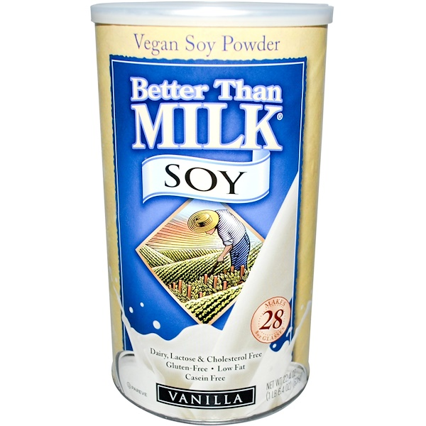 Better Than Milk, Vegan Soy Powder, Vanilla, 22.4 oz (635 g) (Discontinued Item)