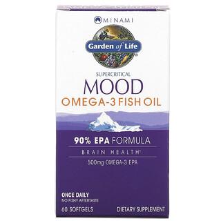 Minami Nutrition, Aceite de pescado con Omega-3 y supercríticos para el estado de ánimo, 500 mg, 60 geles blandos