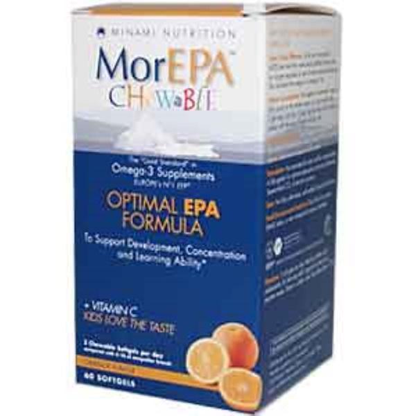 Minami Nutrition, MorEPA Chewable, Optimal EPA Formula, Orange Flavor, 60 Softgels (Discontinued Item)