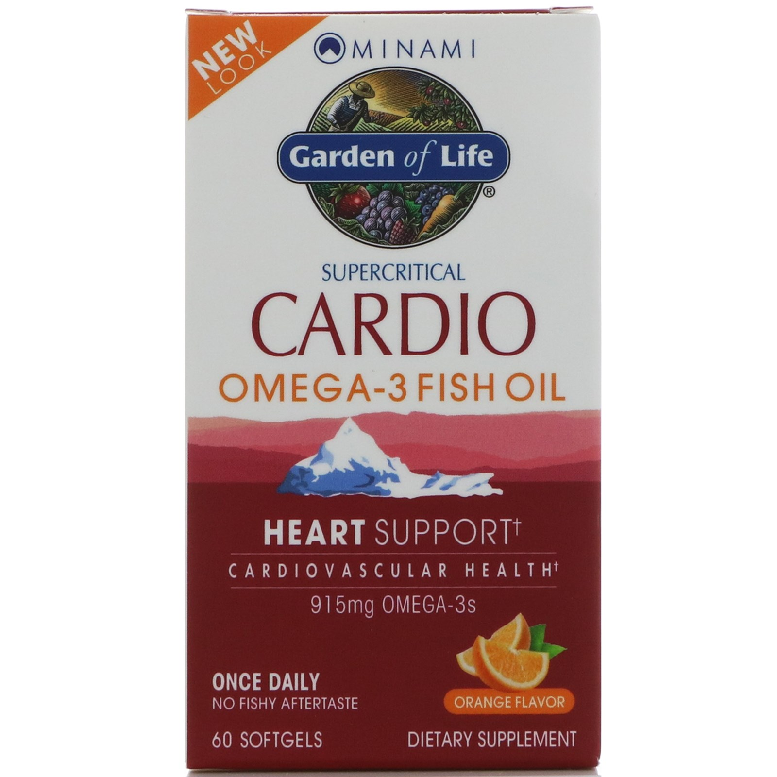 Minami Nutrition, Cardio Omega-3 Fish Oil, Orange Flavor, 60 Softgels