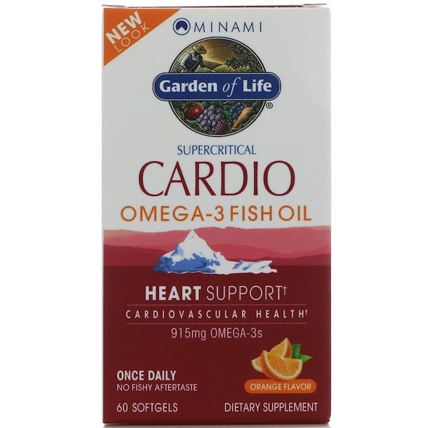 Cardio Omega-3 Fish Oil, Orange Flavor, 60 Softgels
