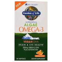 VeganDHA, сверхкритическая добавка Омега-3, апельсиновый аромат, 60 мягких желатиновых капсул - фото