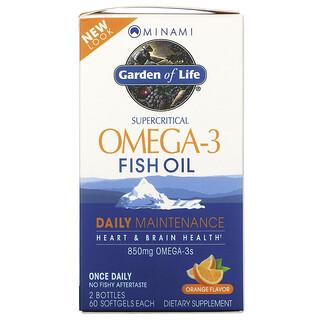 Minami Nutrition, Supercritical 오메가3 피쉬 오일, 오렌지, 850mg, 2병, 각 소프트젤 60정