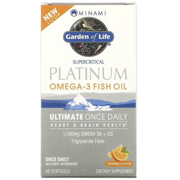 MorEPA Platinum, Формула для ежедневного приема с Омега-3 и витамином D3, со вкусом апельсина, 30 гелевых капсул