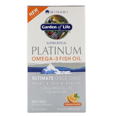 Купить Platinum, рыбий жир Омега-3 со вкусом апельсина, 60 мягких желатиновых капсул