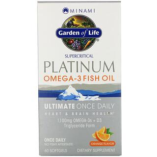 Minami Nutrition, Platinum, aceite de pescado con Omega-3, sabor a naranja, 60 cápsulas blandas