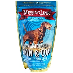 The Missing Link, شركة تصميم الصحة، معطف وجلد الأنياب الأقصى، للكلاب، 1 رطل (454 غرام)