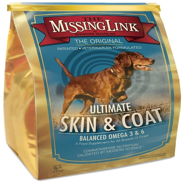 The Missing Link, Ultimate Skin & Coat for Dogs, 5 lbs (2.27 kg) (Discontinued Item)