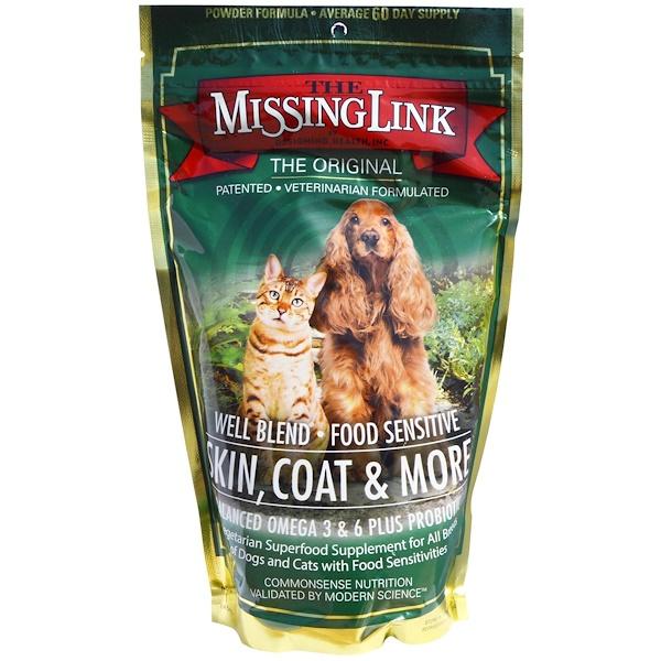 The Missing Link, 皮膚、皮毛或更多,用於狗和貓, 1 磅 (454 克)