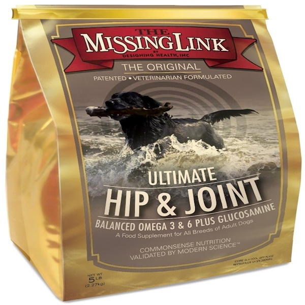 The Missing Link, Ultimate Hip & Joint with Glucosamine for Dogs, 5 lbs (2.27 kg) (Discontinued Item)