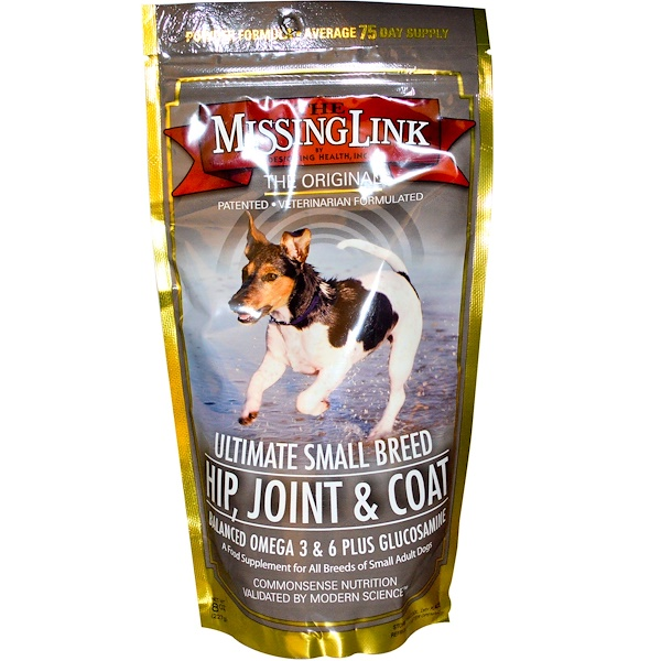 The Missing Link, Ultimate Small Breed - Hip, Joint & Coat for Dogs, 8 oz (227 g) (Discontinued Item)