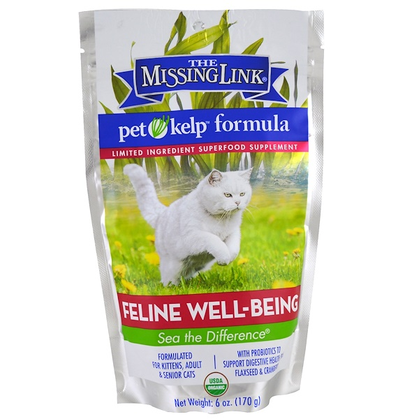 The Missing Link, Pet Kelp Formula, Feline Well-Being, For Cats, 6 oz (170 g) (Discontinued Item)