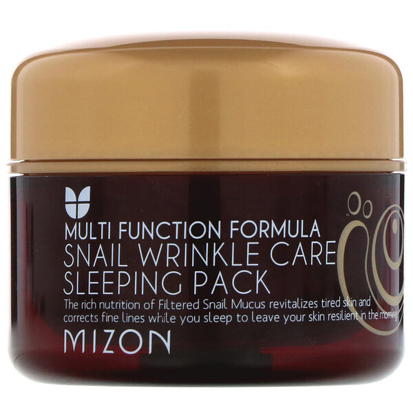 Mizon, Snail Wrinkle Care Sleeping Pack, 2.7 fl oz (80 ml)
