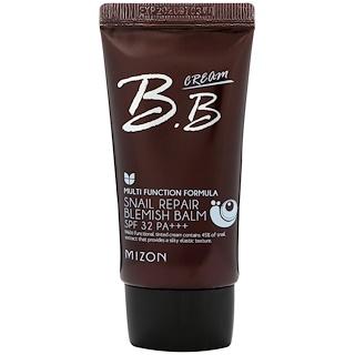 Mizon, Бальзам от недостатков кожи с секретом улитки, BB-крем, SPF 32, розово-бежевый, 1,69 ж. унц. (50 мл)
