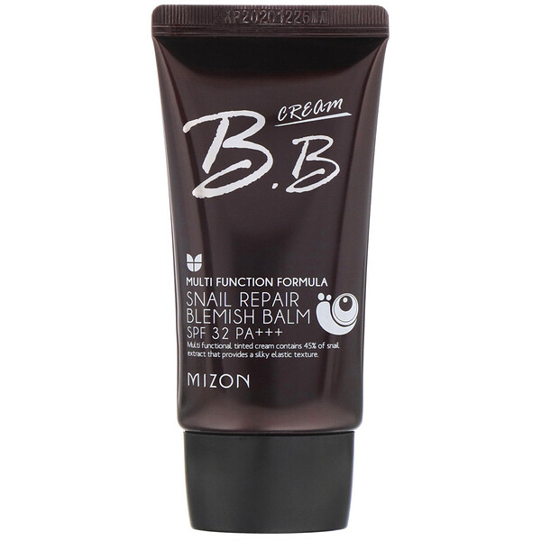 Mizon, BB Cream, Snail Repair Blemish Balm, SPF 32 PA+++, Rose Beige, 1.69 fl oz (50 ml) (Discontinued Item)