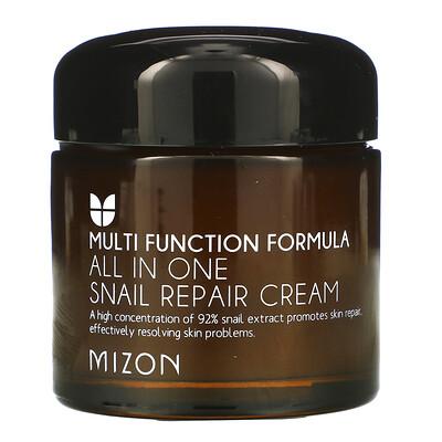 Mizon Восстанавливающий крем All In One Snail Repair, 2,53 унции (75 мл)