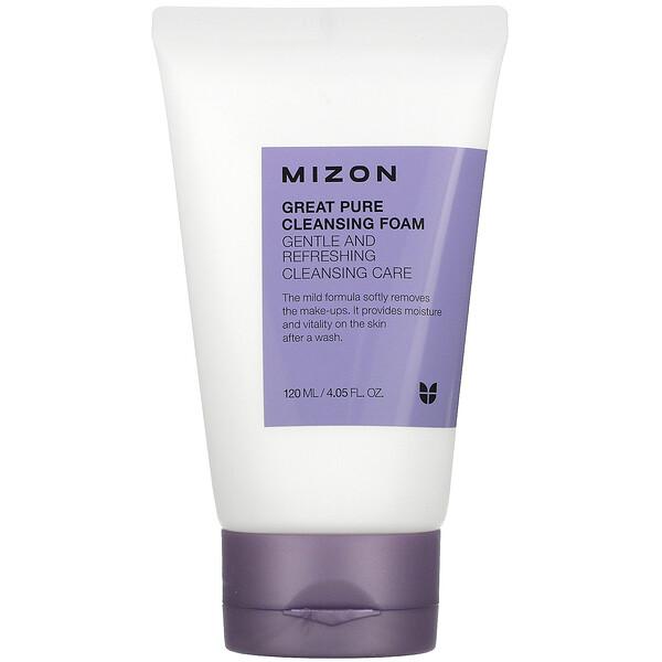 Mizon, Great Pure Cleansing Foam, 4.05 fl oz (120 ml)