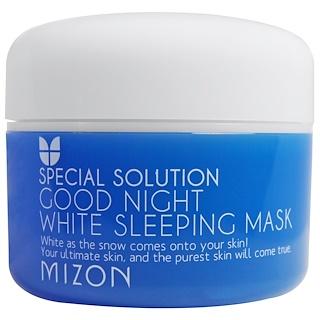 Mizon, Solución especial, mascarilla para dormir blanca Good Night, 2.70 fl oz (80 ml)