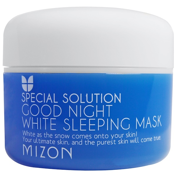 Mizon, Solución especial, mascarilla para dormir blanca Good Night, 2.70 fl oz (80 ml)