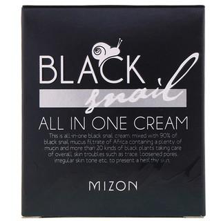Mizon, Schwarze Schneckencreme, Alles-in-einem-Creme, 2.53 fl oz (75 ml)
