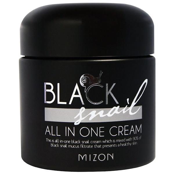 Mizon, Escargot Noir, Crème Tout-en-Un, 2.53 fl oz (75 ml)