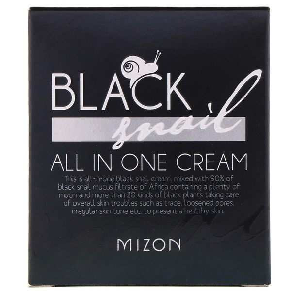 Mizon, Black Snail, All In One Cream, 2.53 fl oz (75 ml) (Discontinued Item)