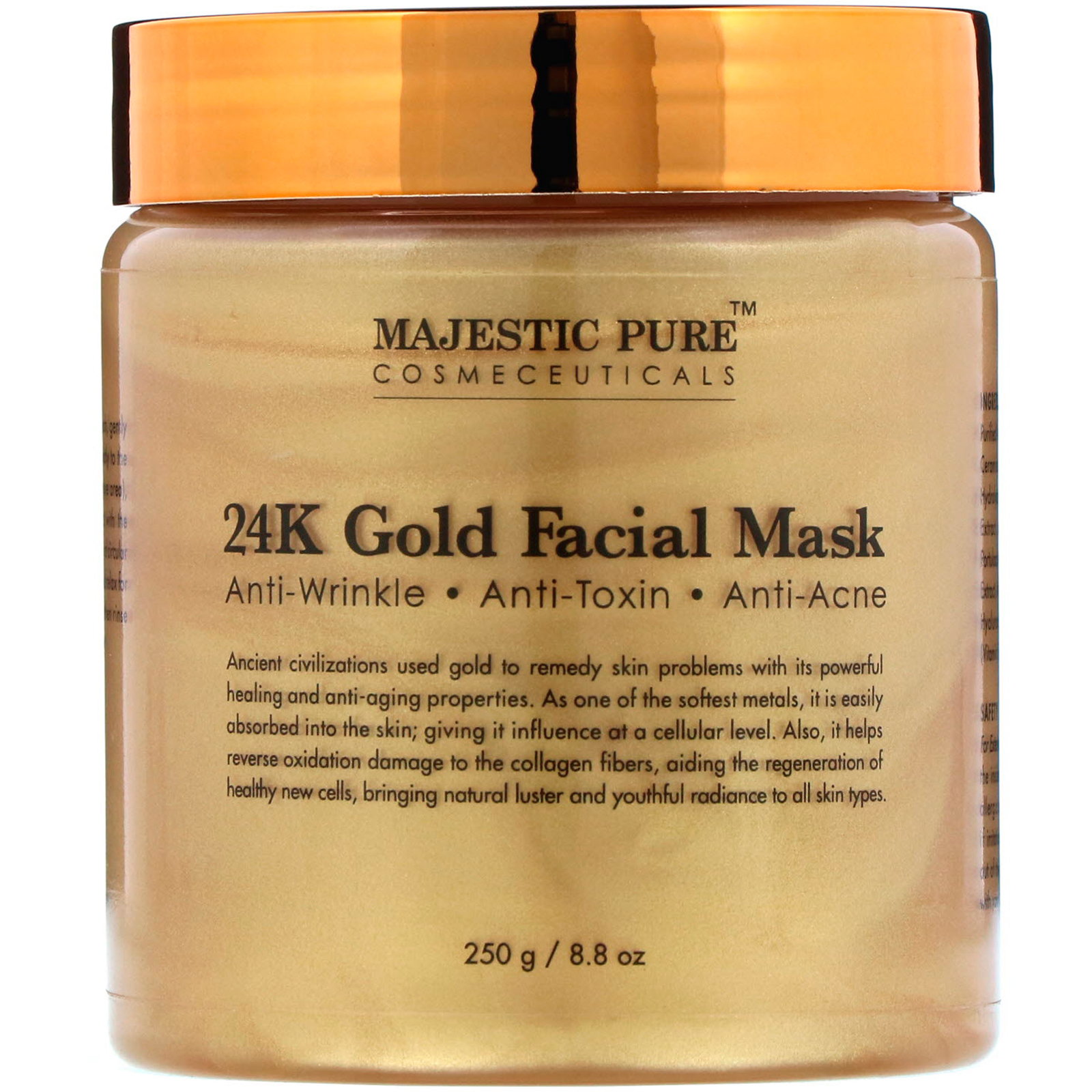 b9e0994b787 Majestic Pure, 24K Gold Facial Mask, 8.8 oz (250 g). By Majestic Pure. Click  to zoom