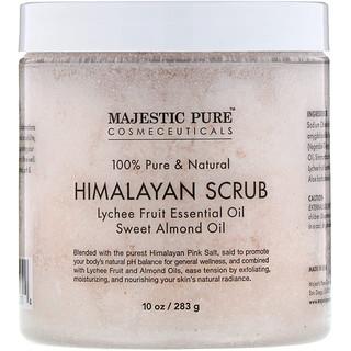 Majestic Pure, 100% Pure & Natural, Himalayan Scrub, 10 oz (283 g)