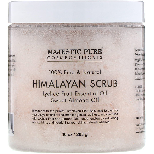 Majestic Pure, 100% Pure & Natural, Himalayan Scrub, 10 oz (283 g) (Discontinued Item)