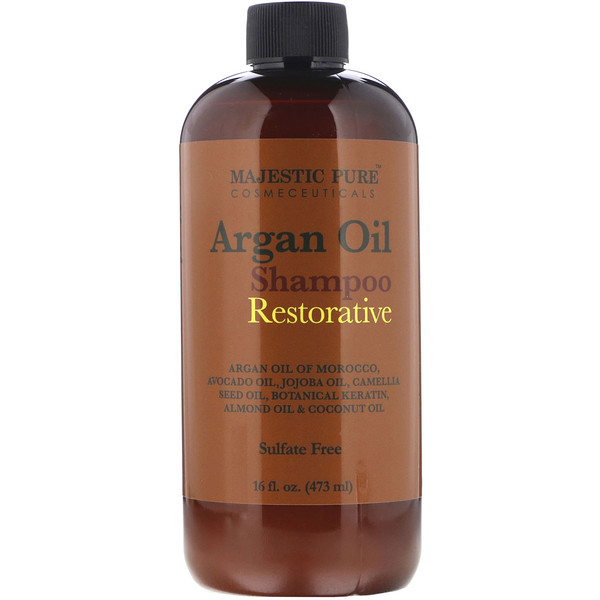Majestic Pure, Argan Oil Shampoo, Restorative, 16 fl oz (473 ml)