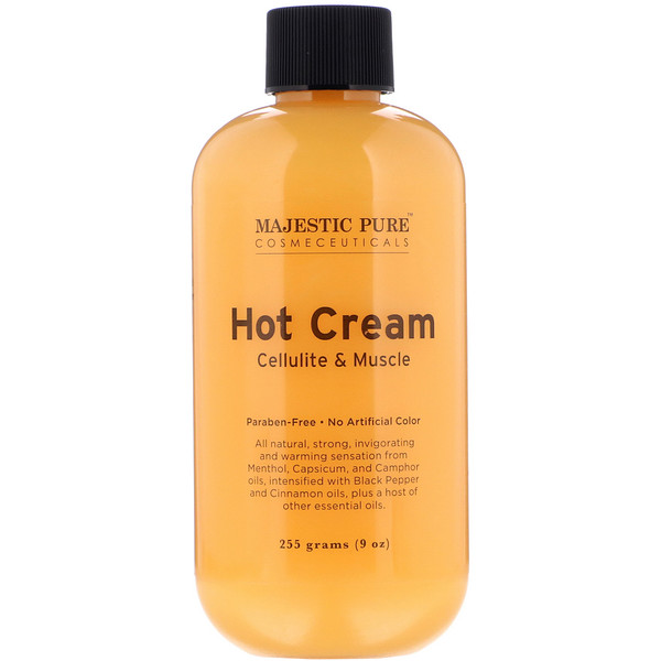 Majestic Pure, Hot Cream, Cellulite & Muscle, 9 oz (255 g)