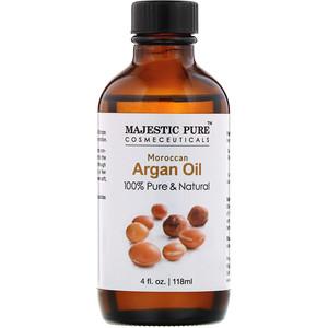 Majestic Pure, 100% Pure & Natural, Moroccan Argan Oil, 4 fl oz (118 ml) отзывы