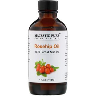 Majestic Pure, 100% Pure & Natural, Rosehip Oil, 4 fl oz (118 ml)