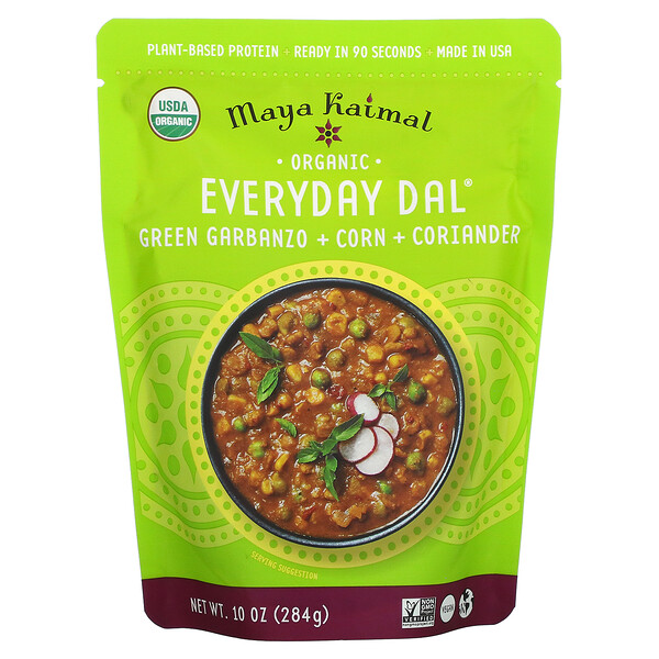 Organic Everyday Dal, Green Garbanzo + Corn + Coriander, 10 oz (284 g)