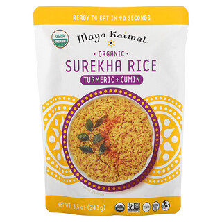Maya Kaimal, Organic Surekha Rice, Turmeric + Cumin, 8.5 oz (241 g)