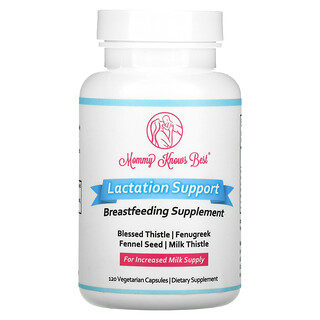 Mommy Knows Best, Lactation Support, 120 Vegetarian Capsules