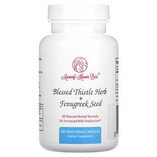 Mommy Knows Best, Blessed Thistle Herb + Fenugreek Seed, 100 Vegetarian Capsules