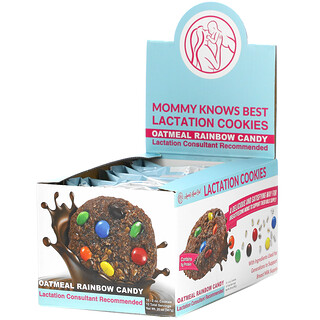 Mommy Knows Best, Lactation Cookies, Oatmeal Rainbow Candy, 10 Cookies, 2 oz Each
