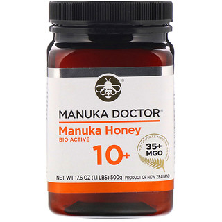 Manuka Doctor, Multifloral Manuka Honey, BioActive 10+ , 1.1 lb (500 g)