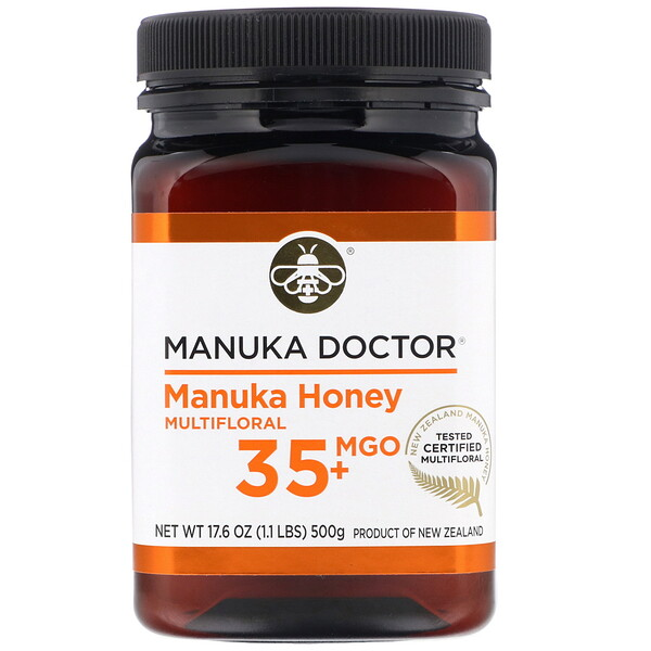 Manuka Doctor, Manuka Honey Multifloral, MGO 35+  , 1.1 lbs (500 g)
