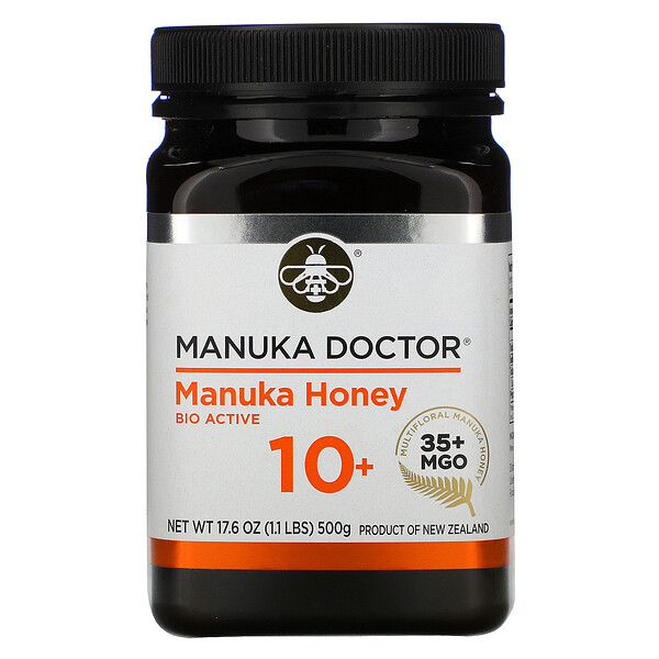 Manuka Honey, Bio Active 10+, MGO 35+, 17.6 oz (500 g)