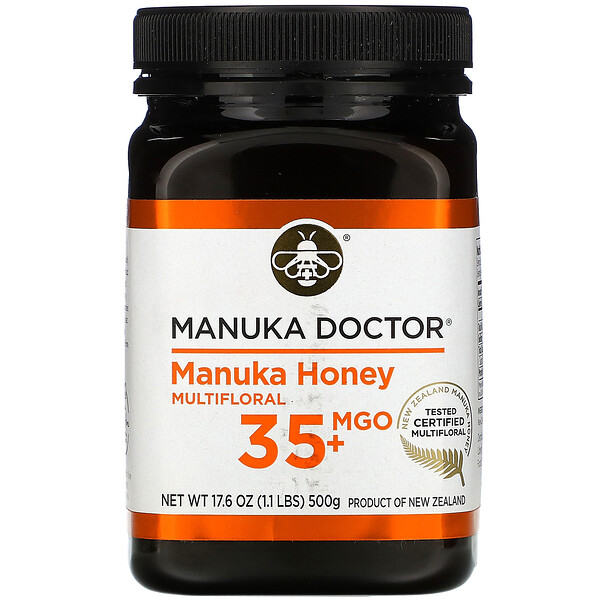 Manuka Honey Multifloral, MGO 35+, 17.6 oz (500 g)