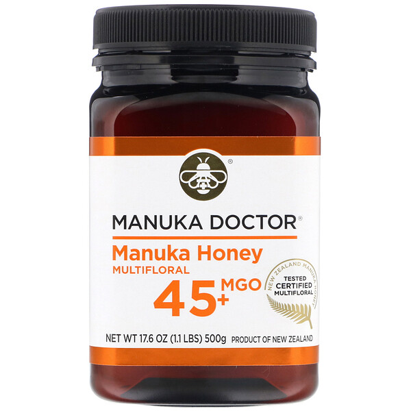Manuka Doctor, Manuka Honey Multifloral, MGO 45+, 1.1 lbs (500 g)
