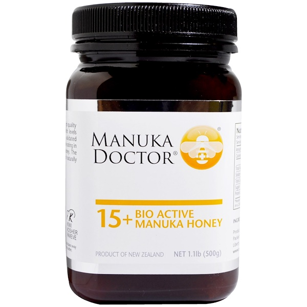 :Manuka Doctor, 15+ Bio Active Manuka Honey, 1、1 lb (500 g)