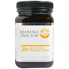 Manuka Doctor, 20+ عسل مانوكا الحيوي الفعال , 1.1 رطل(500 جرام)