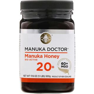 Manuka Doctor, 20 + bio miel de manuka activa, 1.1 lb (500 g)