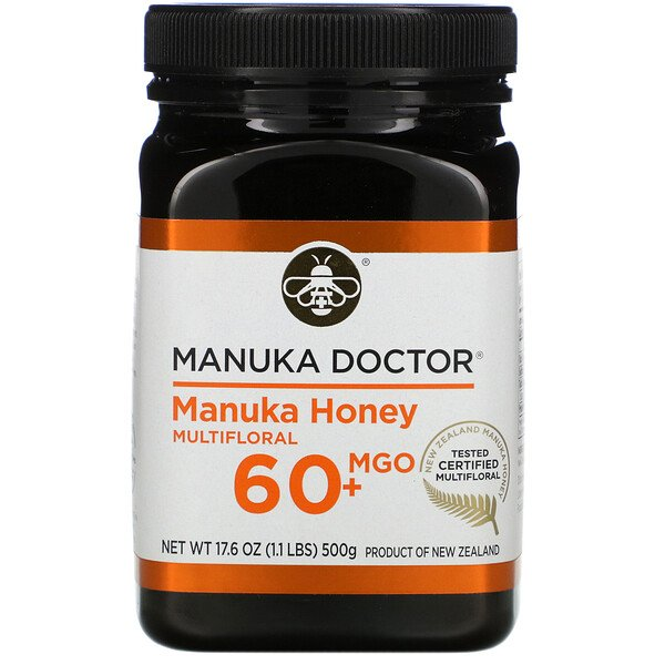 Manuka Honey Multifloral, MGO 60+, 17.6 oz (500 g)