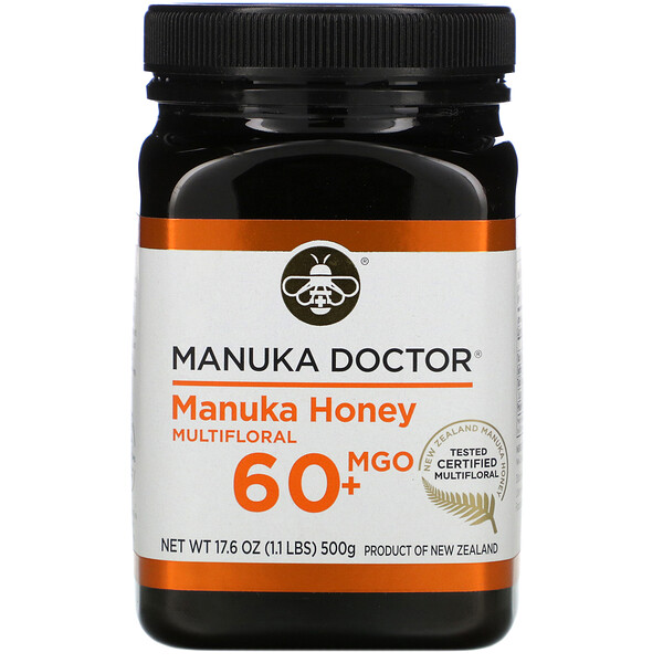 Manuka Doctor, Manuka Honey Multifloral, MGO 60+, 17.6 oz (500 g)