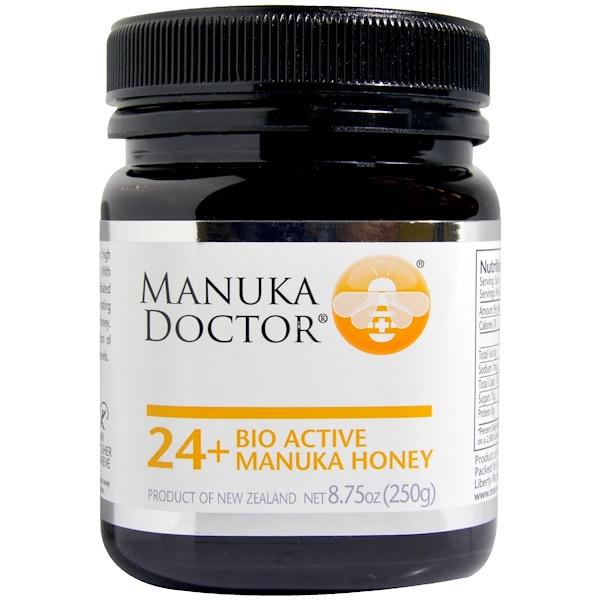 Manuka Doctor, 24+ Bio Active miel de manuka, 250 g (8,75 oz)