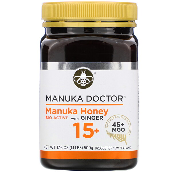 Manuka Honey Multifloral with Ginger, MGO 45+, 1.1 lbs (500 g)